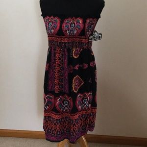 Angie Strapless Smocked Boho NWT Festival Dress L